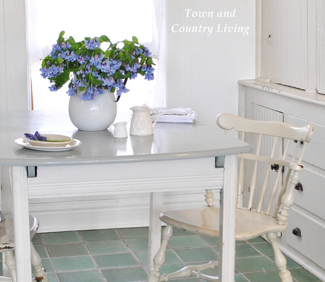 Virginia Bluebells in Farmhouse Breakfast Nook