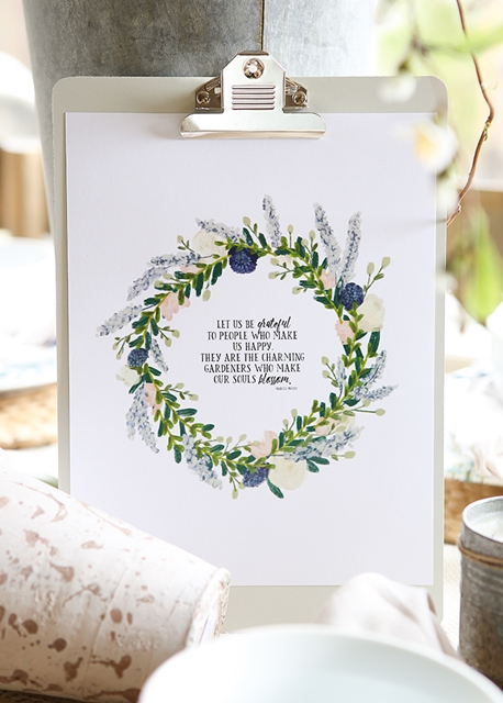 Spring Printable by Ella Claire