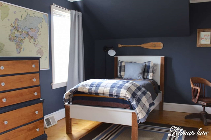 Lehman lane charming home tour town country living for Boys country bedroom ideas