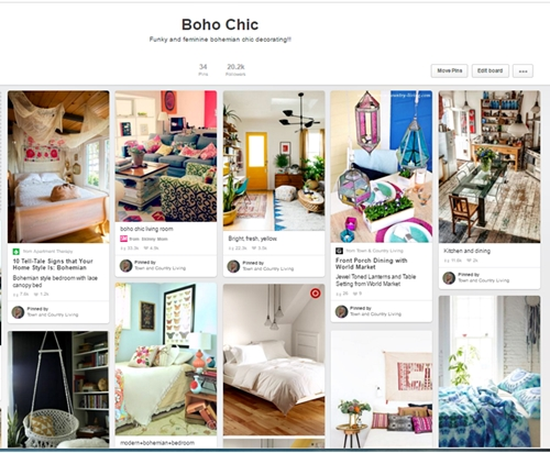Boho Chic Board on Pinterest