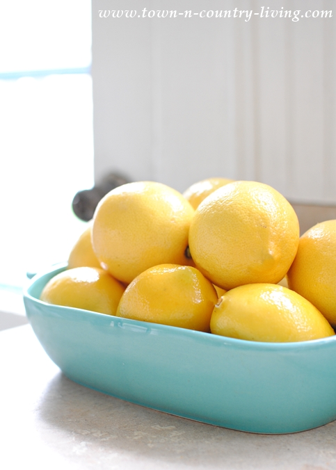 Aqua Bowl Full of Lemons