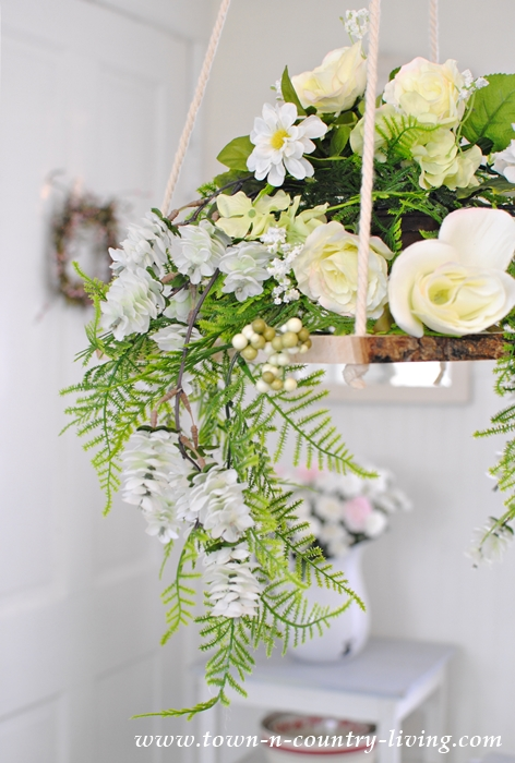 Floral chandelier how to make your own town country living how to make a floral chandelier aloadofball Gallery