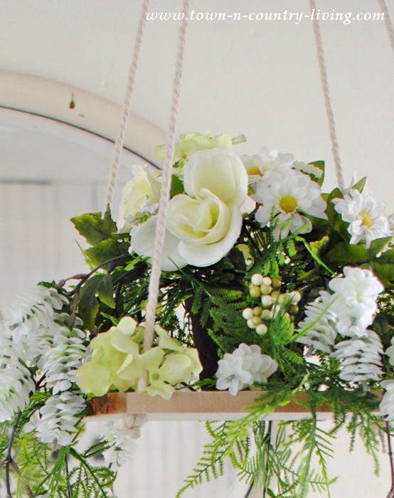 Floral chandelier how to make your own town country living diy floral chandelier aloadofball Choice Image