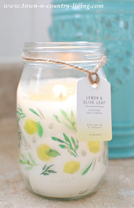 Lemon and Olive Leaf Candle