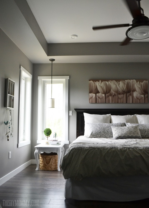 Cream and Gray Master Bedroom