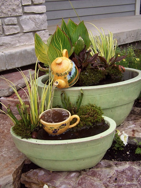 Teapot Container Water Garden