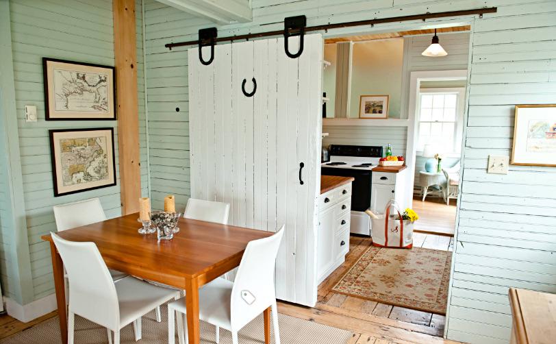 Barn Door Between Kitchen and Dining Rooms
