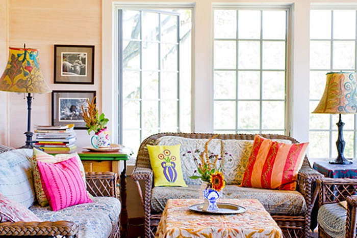 Boho chic style are you a fan town country living Boho chic living room