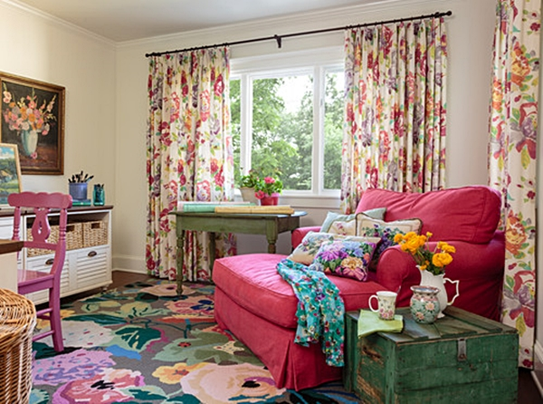 Colorful Office in Cottage