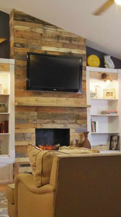 Wood Pallet Fireplace and Other DIY Pallet Projects