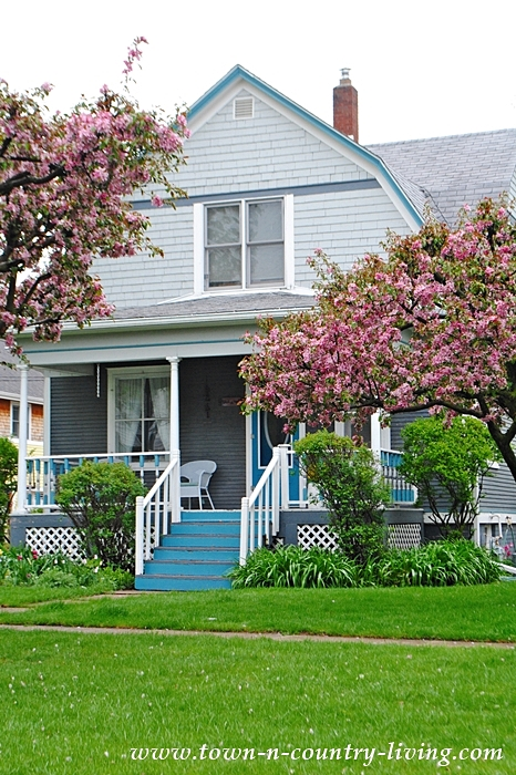 Blue Clapboard Home
