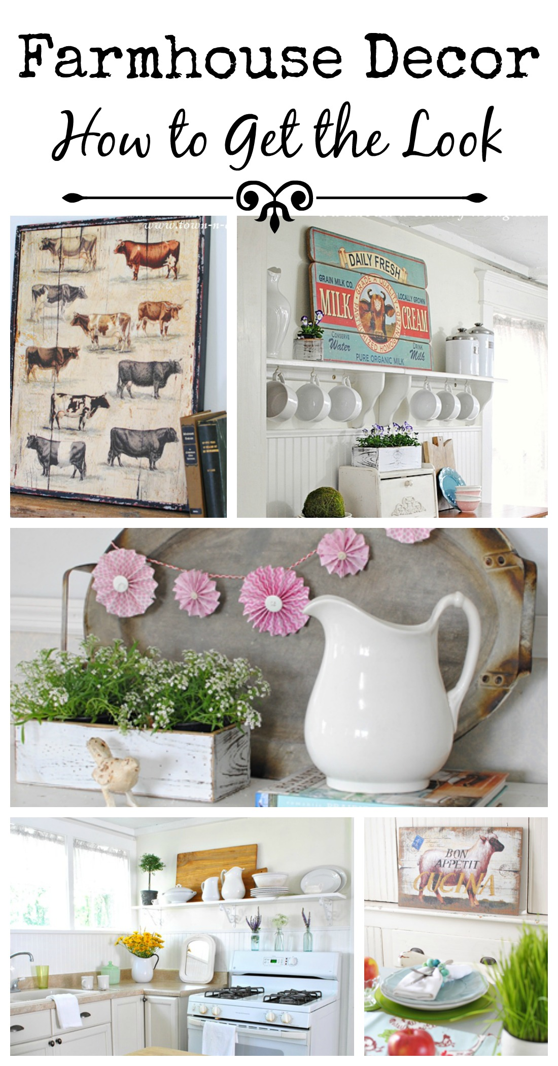 Vintage Farm Kitchen Decor