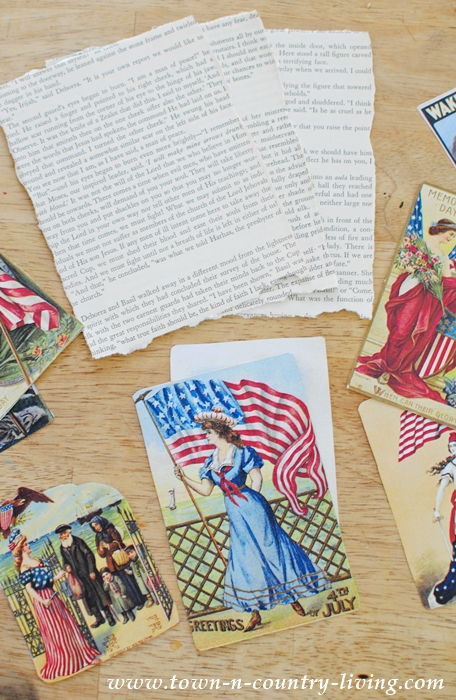 How to Make a Vintage Lady Liberty Banner