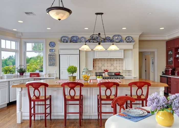 Decorating With Red, White, And Blue In The Kitchen Part 45