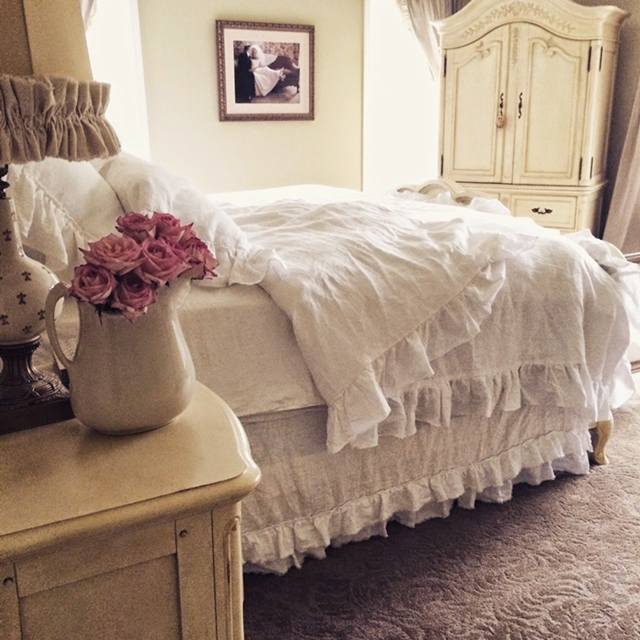 Shabby Chic Master Bedroom: Little Farmstead: Charming Home Tour