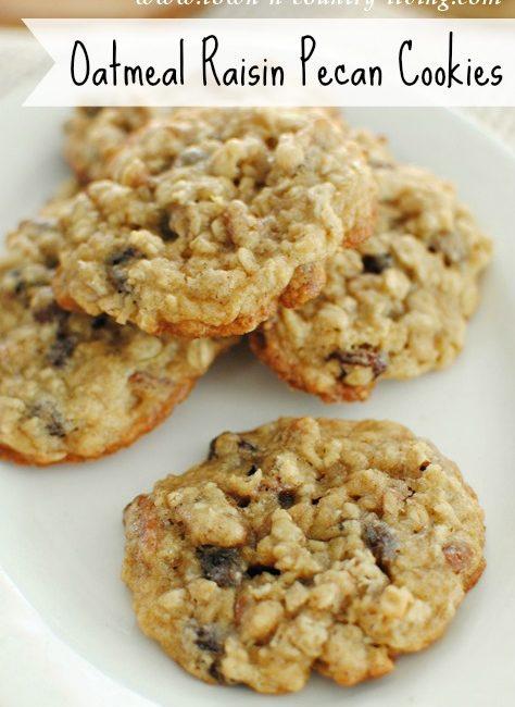 Oatmeal Raisin Pecan Cookies