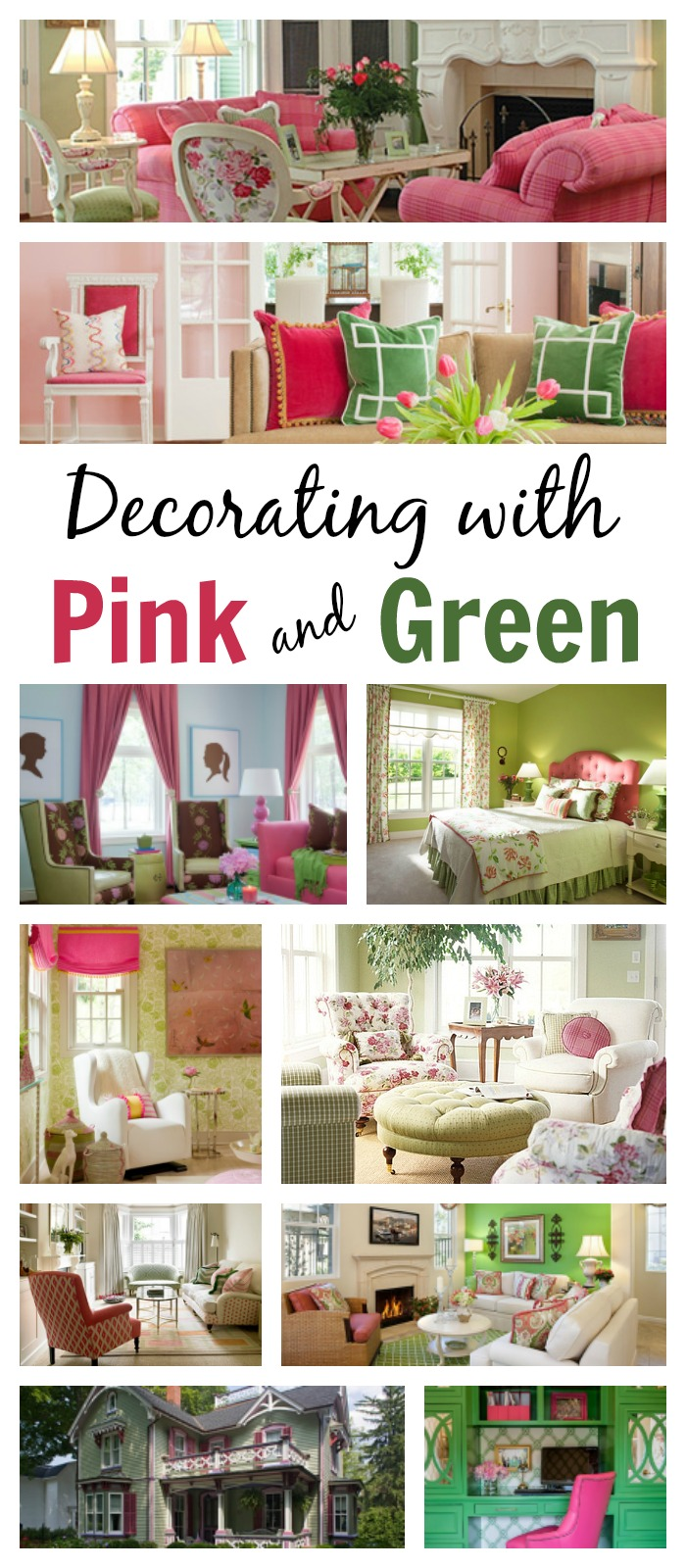 Ideas For Decorating With Pink And Green