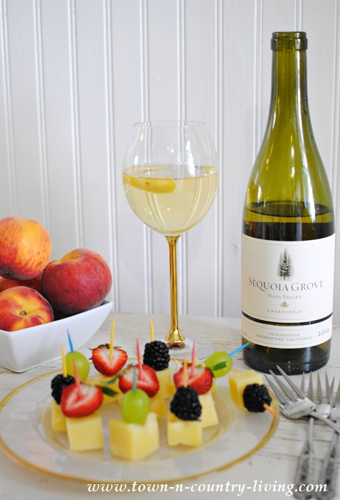 Cheese and Fruit Skewers Paired with Sequoia Grove Chardonnay