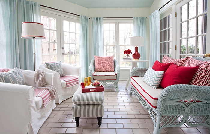Red, White, and Blue Sunroom