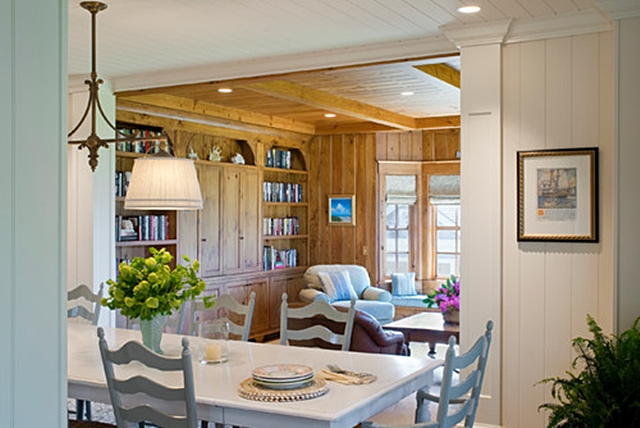 Beach Style Dining and Family Room