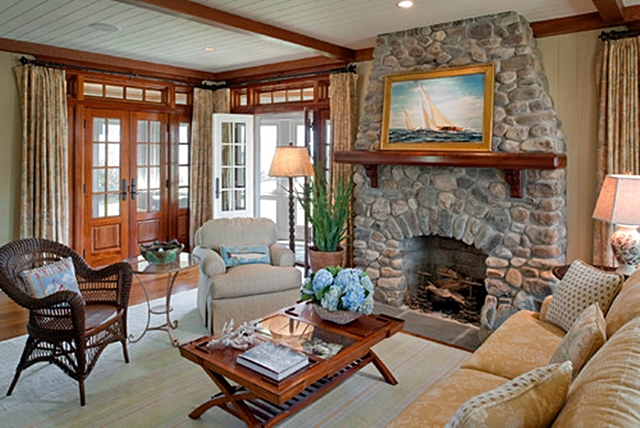 Family Room in Charleston Cottage