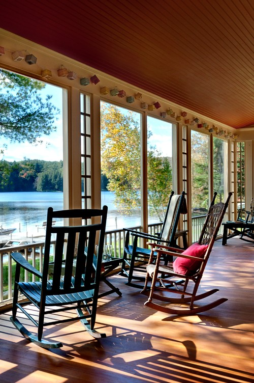 Summer Lake House Porch