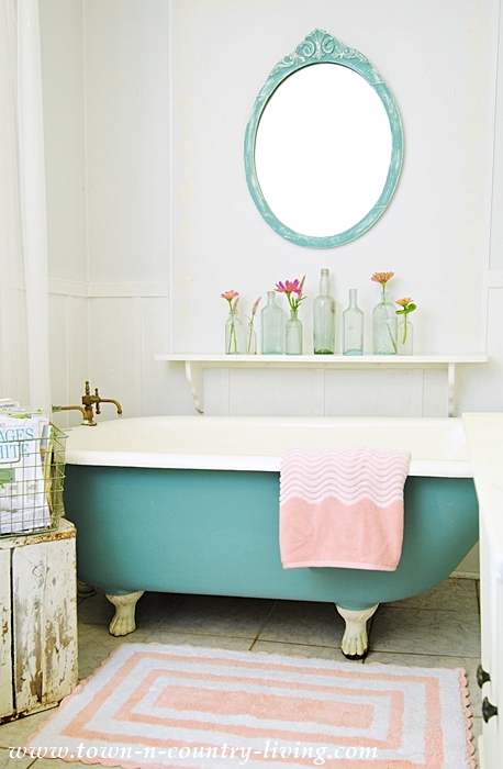 Refresh a Bathroom with Pink Accessories