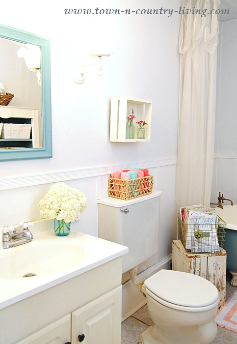 Summer Bathroom with Pink Accents