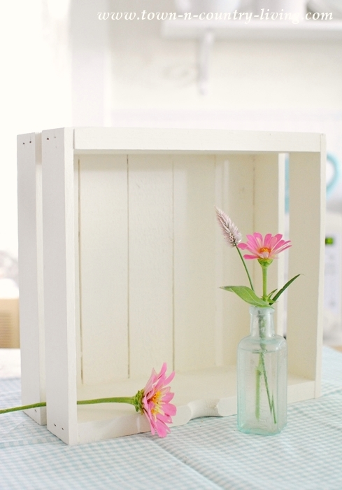 Painted White Box to be used as shelf