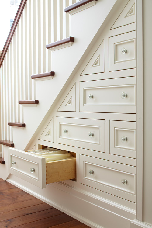 Storage Under Staircases with Drawers