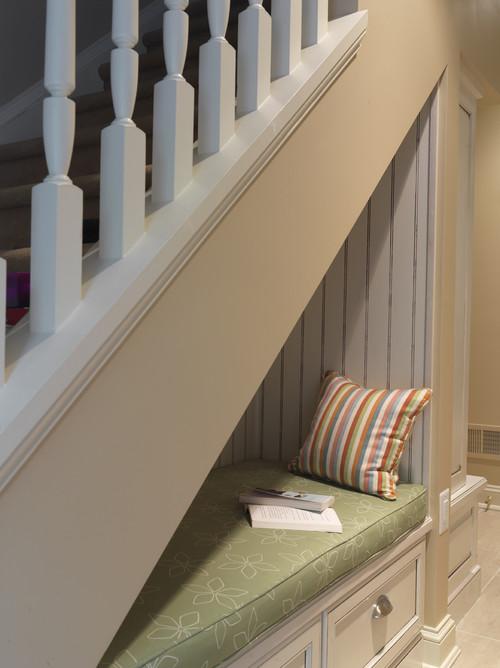 Reading Nook Under Stairway