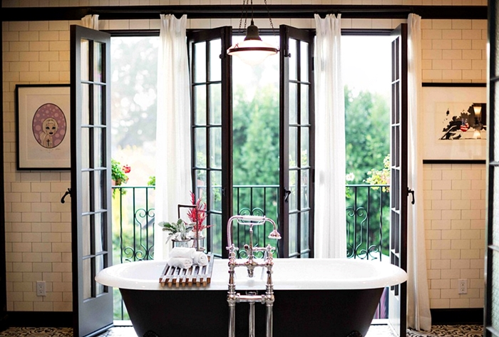 French doors to inspire you town country living - Small french doors for bathroom ...