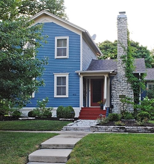 Blue Clapboard Historic Home