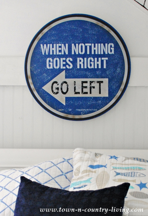 Coastal Style Bedroom in Blue and White