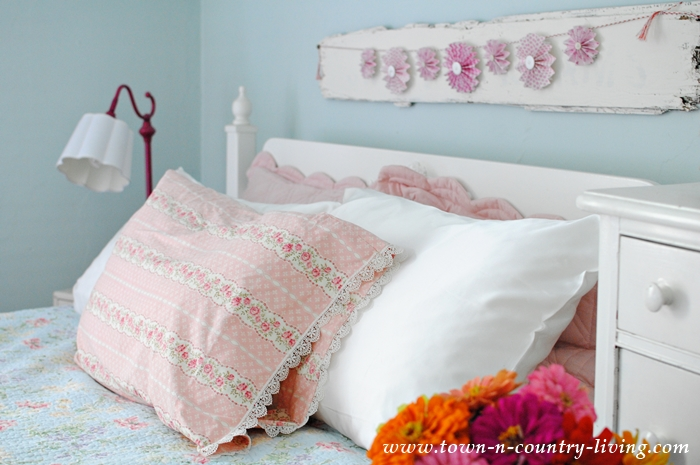 Summer Bedroom with Silk Pillowcases