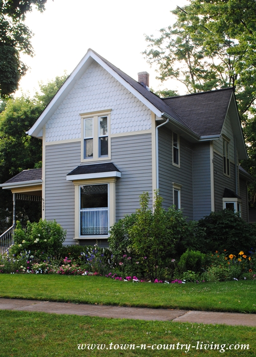Victorian House with Fish Scale Trim