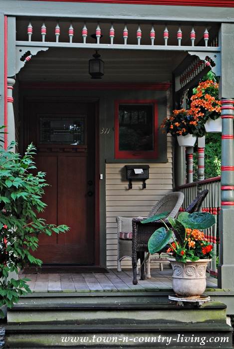 Front Porch of Victorian Home