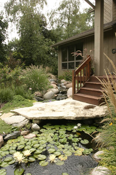 Waterfall and Pond at the Front Entrance