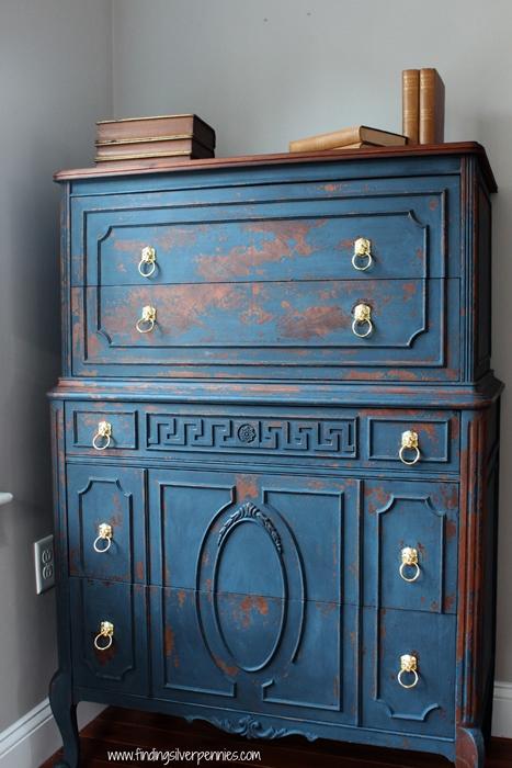 Jameson Dresser in Country Blue Milk Paint