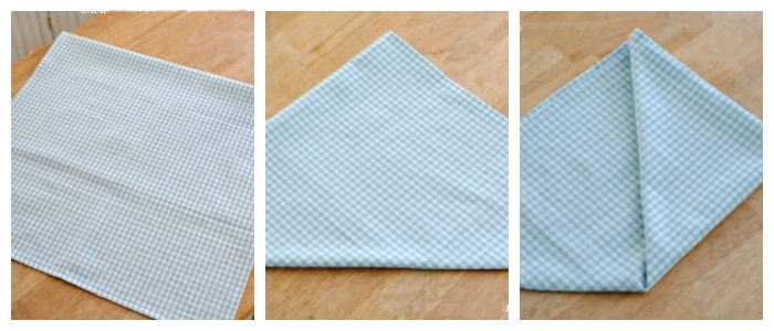 Pyramid Napkin Folding Tutorial