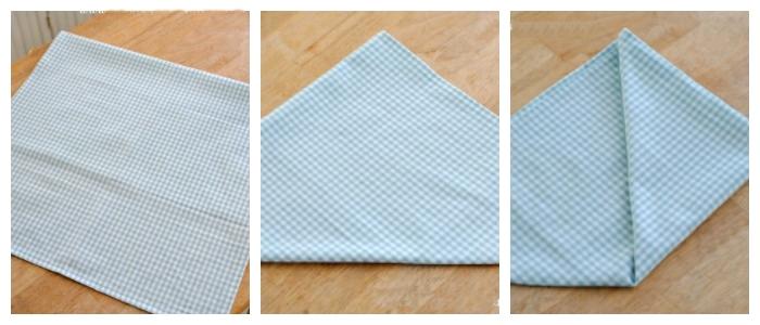 Pyramid Napkin Folding Tutorial