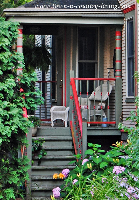 Side Porch of Victorian Home