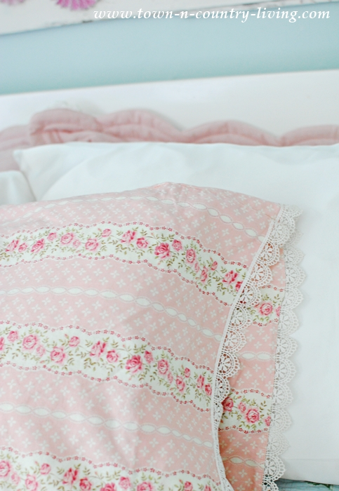 Summer Bedroom with Decorative Pillowcases