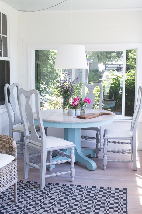 Summer Sun Room with Painted Furniture