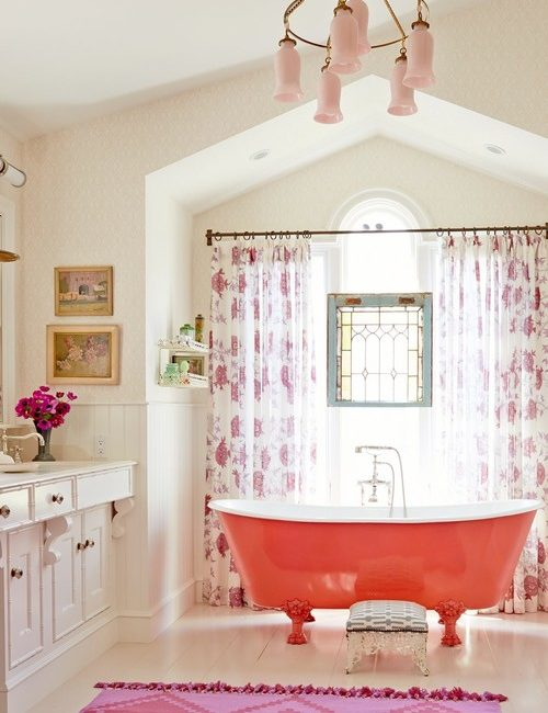 Elegantly Pink Bathroom