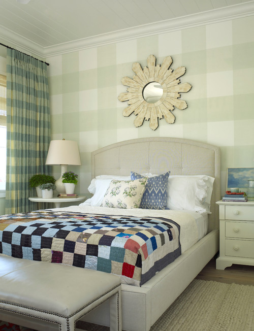 Patterned Cottage Bedroom