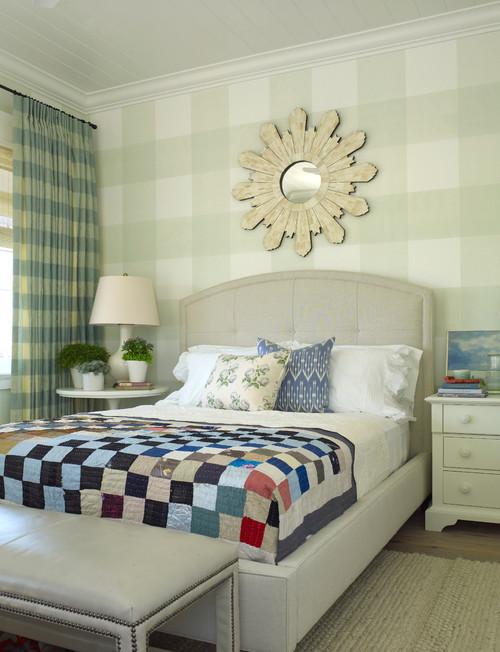 Patterned Cottage Bedroom