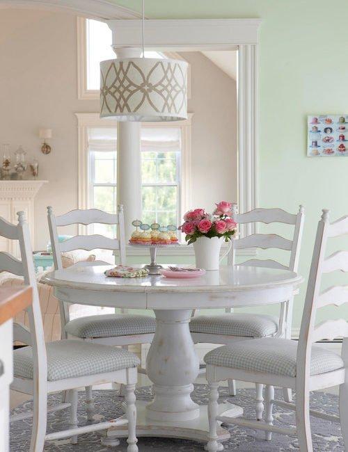 Shabby Chic White Dining Nook
