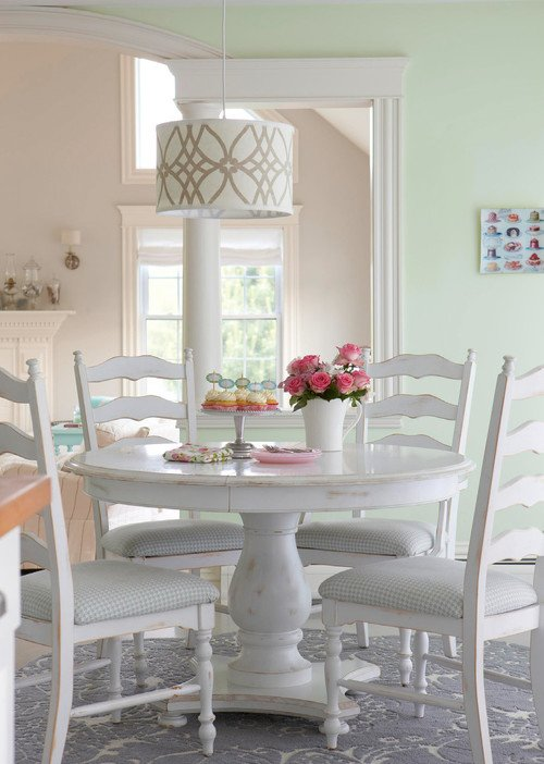 Shabby Chic White Dining Nook
