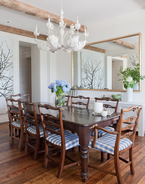 Buffalo checks on dining room chairs for a classic look